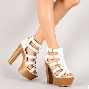 "Dollhouse ""Troy"" Buckle Chunky Platform Heel"